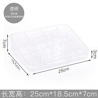 化妆品收纳盒透明塑料简约桌面家用宿舍面膜整理护肤品置物架盒子