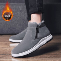 冬季男鞋韩版男靴子潮流高帮雪地靴男保暖加绒短靴马丁棉靴
