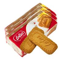 比利时进口饼干 lotus和情焦糖饼干350g*3包休闲零食品咖啡好伴侣