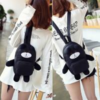 韩版卡通小熊双肩包女可爱时尚尼龙小背包女生萌包时尚潮流学生包