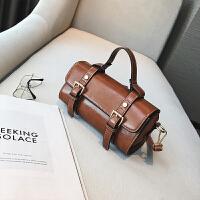 欧美时尚复古迷你小波士顿手提包2018夏季新款休闲斜挎小包包女包