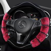 汽车方向盘套冬季短毛绒英朗卡罗拉轩逸福克斯科鲁兹别克通用把套