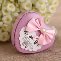 欧式婚礼婚庆用品结婚红色心形马口铁喜糖盒子小号铁盒糖盒