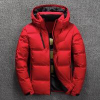 2018冬季新品 男士冬装短款加厚羽绒服 反季青年白鸭绒保暖外套