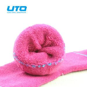 UTO悠途 儿童羊毛袜子冬款加厚保暖男童女童袜 户外运动童袜 85%羊毛 小中大童袜快干透气004
