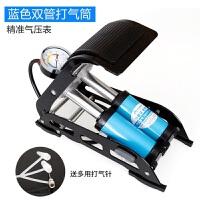 脚踏式打气筒车载充气泵汽车打气泵自行车电动车摩托车脚踩 充气泵胎压表监测显示器