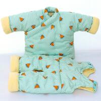 婴儿手工棉衣花套装宝宝袄冬季加厚新生儿冬装0-2岁