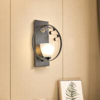 雷士照明 现代中式铁艺壁灯个性创意新中式布艺餐卧室书房灯具