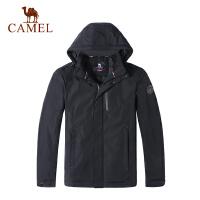 camel骆驼户外棉服 耐磨保暖防风男士开衫连帽外套
