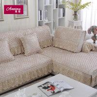 欧式沙发垫防滑布艺简约现代四季通用靠背巾蕾丝�f能套子全包定做