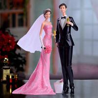 装饰品摆件 欧式情侣人物摆件客厅卧室电视柜装饰品新婚工艺礼品送闺蜜结婚礼物可定制