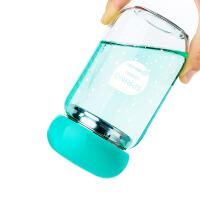 便携创意可爱学生耐热带盖茶杯随手杯女杯子水杯 玻璃杯
