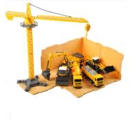 儿童工程车套装大号男孩挖掘机压路机吊车2-3-6岁搅拌车玩具 工程7件套送收纳盒