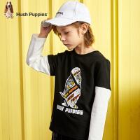 【3件3折:86.4元】暇步士童装男童T恤春季新款儿童长袖上衣洋气宝宝套头衫t恤