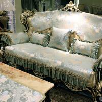 欧式沙发垫四季通用布艺防滑客厅美式真皮沙发垫套冬定做