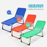 便携简易学生儿童折叠床单人1.2小1.5午睡躺椅沙滩床办公室午休床 1.3米长*45宽*30高 桔黄色