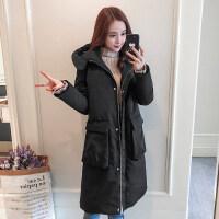 冬季羽绒女中长款外套棉衣加厚韩版可爱棉袄学生宽松