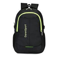 电脑双肩包双肩背包男男士双肩包尼龙双肩包旅行徒步背包男士电脑包旅游双肩包女运动书包 双肩背包男尼龙双肩包绿色 均码 T
