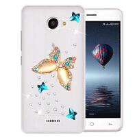 手机套保护套GM-Q6手机壳小辣椒20160818Q硅胶软水钻 戏碟水钻