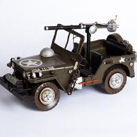 美式复古jeep威利斯军车家居客厅书房儿童房会所装饰摆件 Jeep军车39*20*19CM