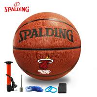 斯伯丁篮球 74-164 迈阿密热火队 韦德签名版 PU材质 篮球