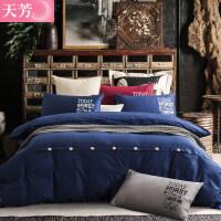 床上四件套纯棉全棉1.8/2.0m床简约双人床单三件套学生宿舍单人男