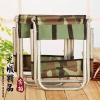大号金属靠背凳 户外钓鱼凳 便携式折叠凳子 火车站排队凳 折叠凳