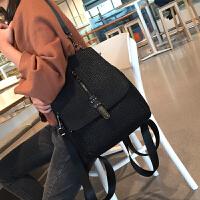 真皮双肩包女韩版2017新款潮百搭时尚羊皮软皮多功能两用英伦背包SN3157