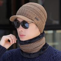 帽子男冬天针织毛线帽秋冬季男士时尚保暖帽青年棉帽