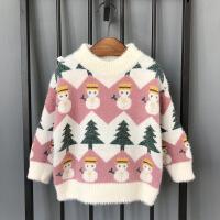 №【2019新款】冬天小朋友穿的童装男童毛衣宝宝冬装圣诞老人洋气儿童套头打底衫