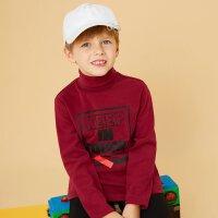 美特斯邦威旗下童装 moomoo童装男童高领针织恤春季中大童小孩长袖套头衫