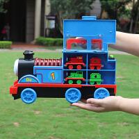 大号合金托马斯小火车套装儿童惯性磁铁连接回力汽车模型男孩玩具