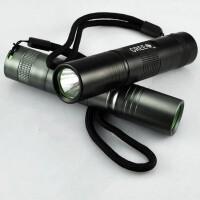 户外迷你小直筒家用可充电强光手电筒LED超亮袖珍