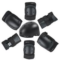 轮滑护具儿童滑板护具头盔全套装旱冰溜冰鞋护肘护膝6件