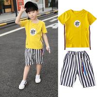 童装男童夏装套装新款夏季儿童短袖两件套中大童运动潮衣