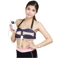 家用电动多功能胸部按摩器 震动热敷乳房按摩仪器 紫色