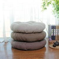 棉麻布艺坐垫加厚榻榻米坐垫蒲团 圆形瑜伽打坐禅修飘窗地板椅子垫