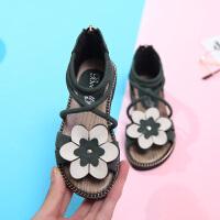 女童凉鞋夏季时尚小女孩公主鞋儿童凉鞋女软底罗马鞋