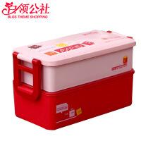 白领公社 便当盒 家用日式创意可爱学生带餐多层可微波炉饭盒厨房用品