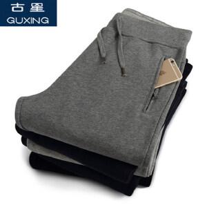 秋冬季男士运动裤休闲纯色直筒卫裤加绒加厚跑步裤针织裤舒适保暖运动长裤