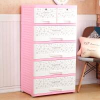 加厚大号PP抽屉式收纳柜儿童衣物整理柜塑料储物柜宝宝衣柜子