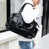 轻商务男士横款手提包文件公文包 街头皮质休闲男包简约单肩包
