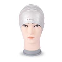 力酷游泳帽专业护耳不勒头防水弹力男女纯色硅胶帽批