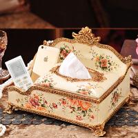 欧式摆件客厅茶几多功能纸巾盒美式装饰抽纸盒遥控器收纳餐巾纸盒