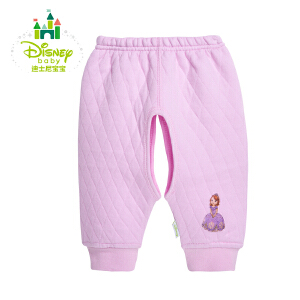 迪士尼Disney童装婴儿衣服男女宝宝春装裤子秋冬保暖加厚开裆裤154K658