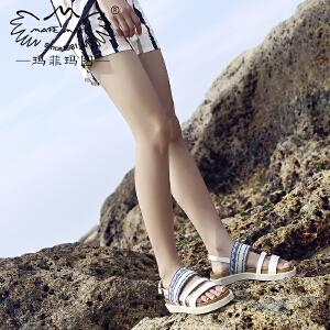 玛菲玛图度假凉鞋女新款夏天松糕厚底波西米亚风海边游玩洛丽塔罗马鞋设计师女鞋M1981692T3