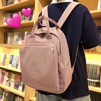 2019夏天小清新纯色书包女学生双肩包女高中旅行背包