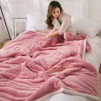 毛毯被加厚加量冬天单人被加厚三层毛毯被子法兰绒羊羔绒保暖小毯子午睡毯女单人冬季珊瑚绒