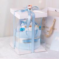 婴儿纯棉衣服套装礼盒新生儿创意礼盒满月礼物女宝宝*
