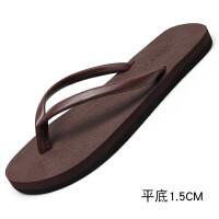 人字拖女夏时尚外穿凉拖鞋厚底坡跟防滑沙滩鞋百搭韩版潮